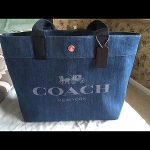 Coach Denim Tote